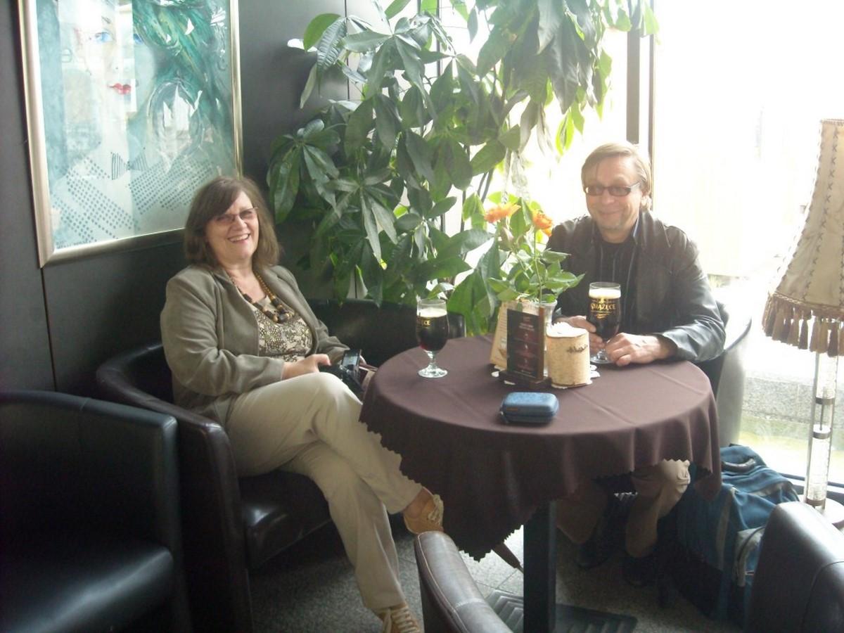 Agnieszka Jarzębowska i Romuald Mieczkowski w Open Hair Cafe; fot. Maria Duszka