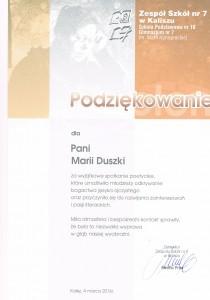 Maria Duszka - Zespół Szkół nr 7 w Kaliszu
